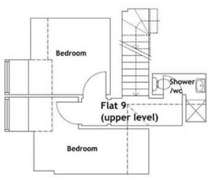 9 upper Floorplan